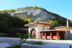 Traditionelles Haus in der tatarischen Art in Krim lizenzfreie stockfotografie