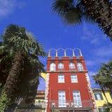 Traditionelles Haus an einem italienischen See Lizenzfreies Stockbild