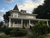 Traditionelles Haus in Kennebunkport, Maine Stockbild