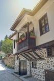 Traditionelles Haus in Melnik, Bulgarien stockfotografie