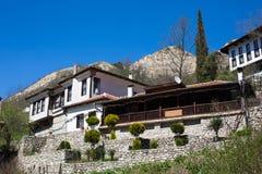 Traditionelles Haus in Melnik-Stadt, Bulgarien lizenzfreie stockfotografie
