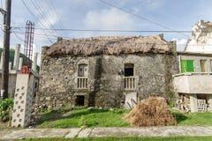 Traditionelles Haus in Sabtang-Insel, Batanes Stockbild