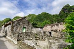 Traditionelles Haus in Sabtang-Insel, Batanes Lizenzfreie Stockbilder