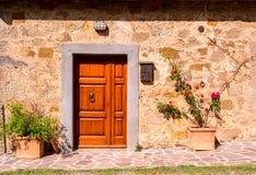 Traditionelles Haus in Toskana Stockfotos