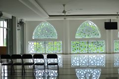 Traditionelles islamisches geometrisches Muster einer Moschee in Bandar Baru Bangi Stockfotografie