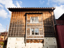 Traditionelles japanisches Holzhaus Stockfotografie