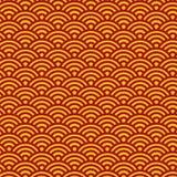 Traditionelles japanisches Völker Seigaiha-Muster - Vektor-nahtloser Hintergrund lizenzfreie abbildung