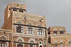 Traditionelles Jemenhaus stockfotografie