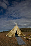 Traditionelles Kampieren in der Arktis Lizenzfreies Stockfoto
