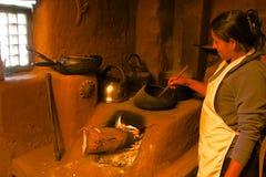 Traditionelles Kochen Stockfotos