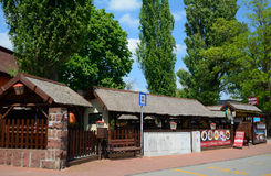 Traditionelles ländliches Gebäude, Balatonalmadi, Ungarn Lizenzfreies Stockfoto
