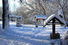 Traditionelles ländliches Gebiet im Winter Lizenzfreies Stockfoto