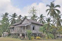 Traditionelles landwirtschaftliches Haus in Philippinen lizenzfreie stockfotos