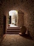 Traditionelles landwirtschaftliches italienisches Dorfdetail Stockbilder