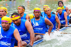 Traditionelles langes Ruderwettkampffestival Langsuan, Thailand Stockbild