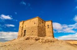 Traditionelles Lehmhaus in Ait Ben Haddou-Dorf, ein UNESCO-Bauerbe in Marokko Stockbild