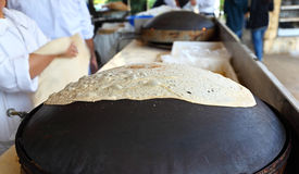 Traditionelles libanesisches flaches Brot Stockfoto