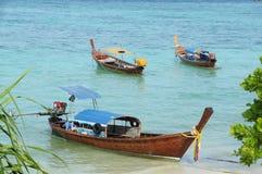 Traditionelles longtail Boot tropische Lipe-Insel, Thailand Lizenzfreies Stockfoto