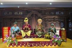 Traditionelles malaysisches Brautbett stockfotos