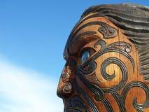 Traditionelles Maori- Schnitzen lizenzfreies stockfoto