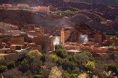 Traditionelles marokkanisches Dorf stockbilder