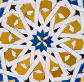 Traditionelles marokkanisches Fliesemuster Stockfotografie