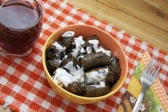 Traditionelles Mehlkloßmittagessen Stockfoto