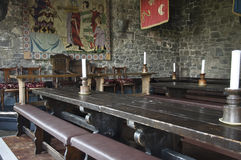 Traditionelles mittelalterliches irisches englisches Abendessenbankett Stockbild