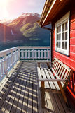 Traditionelles norwagian Holzhaus Lizenzfreies Stockfoto