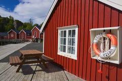 Fischerdorf Nusfjord lizenzfreie stockbilder