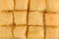 Traditionelles orientalisches Nachtischbaklava mit Sirup stockfotografie