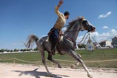 Traditionelles Osmane-Bogenschießen Stockfoto