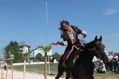 Traditionelles Osmane-Bogenschießen Stockfotos