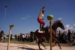 Traditionelles Osmane-Bogenschießen Stockfotografie