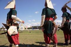 Traditionelles Osmane-Bogenschießen Lizenzfreie Stockfotos