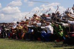 Traditionelles Osmane-Bogenschießen Stockbild