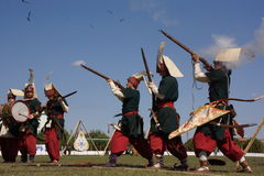 Traditionelles Osmane-Bogenschießen Lizenzfreie Stockfotografie