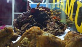 Traditionelles padang Lebensmittel Empal Dendeng lizenzfreies stockbild