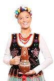 Traditionelles polnisches Mädchen Lizenzfreie Stockfotos
