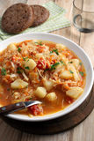Traditionelles polnisches Suppe kapusnyak Lizenzfreies Stockbild