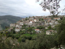 Traditionelles Qeparo-Dorf, Süd-Albanien Lizenzfreies Stockfoto