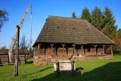 Traditionelles rumänisches Dorf Stockfotos