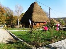 Traditionelles rumänisches Haus stockfotos
