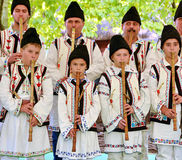 Traditionelles rumänisches Volkskostüm Stockbild