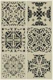 Traditionelles russisches Muster, schwarze Vignette Lizenzfreies Stockbild