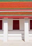 Traditionelles siamesisches Artfenster und Dachtempel Lizenzfreie Stockfotos