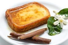 Traditionelles Spanisch Torrijas (französische Toast) Nachtisch von lieh lizenzfreies stockbild