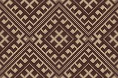 Traditionelles Stammes- aztekisches nahtloses Muster auf der Wolle strickte Beschaffenheit Lizenzfreie Stockfotos