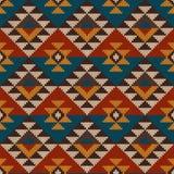 Traditionelles Stammes- aztekisches nahtloses Muster auf der Wolle strickte te Stockfotos