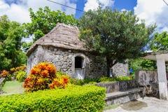 Traditionelles Steinhaus in Batan-Insel, Batanes Stockbild